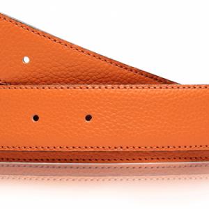 Ledergürtel Orange Damen & Herren 32mm oder 40mm Ledergürtel ohne Schnalle